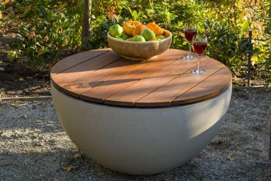 Hemi 36 Linen with IPE table top