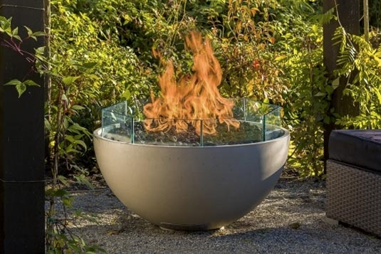 glass shield firepit accessory