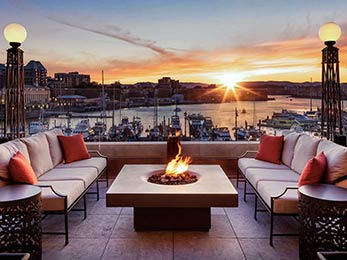 Firepits and fire tables for architectural new builds