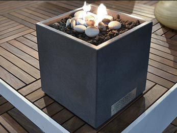 Solus Firecube fire pit available in London UK, England, Europe and Canada