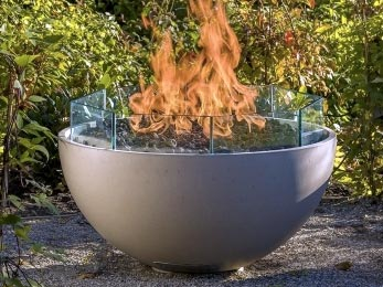 glass shields on firebowls