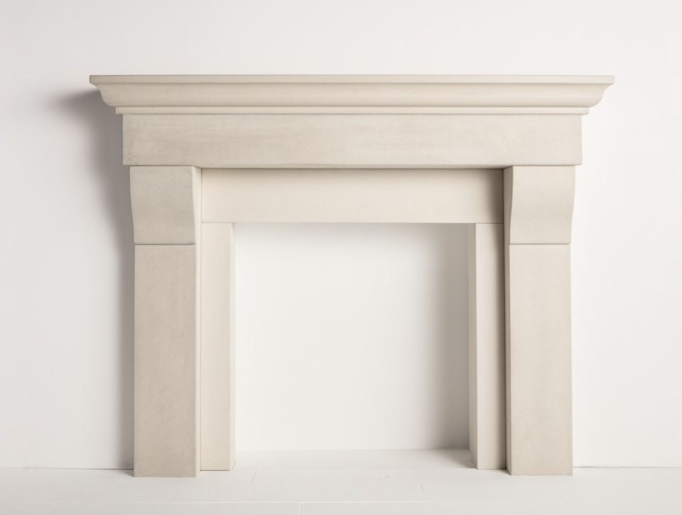 Solus concrete fireplace surround - Halva