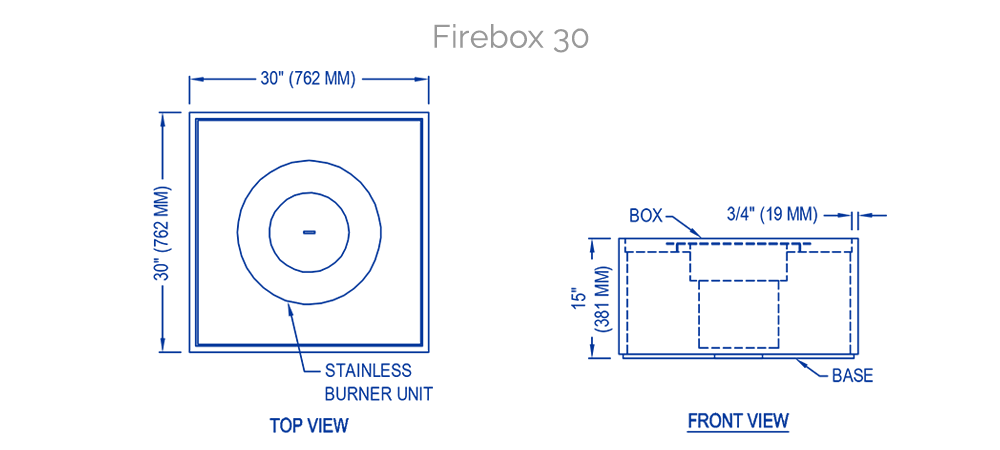 solus firebox technical drawing