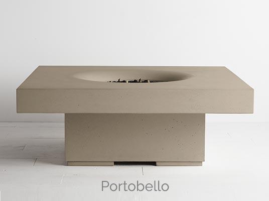 Halo elevated fire pit portobello colour