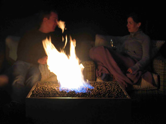 Solus Firebox firepit outdoor heating