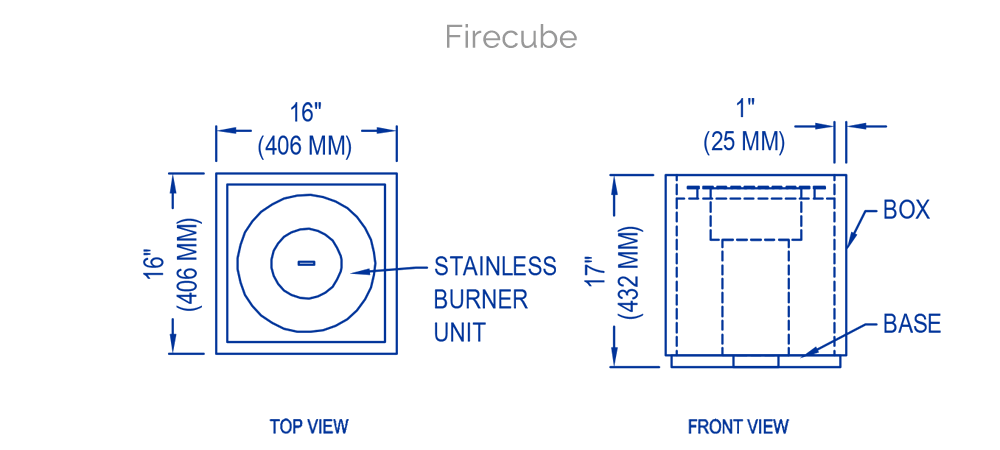 solus firecube technical drawing