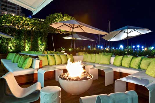Firepits for retail and commercial spaces