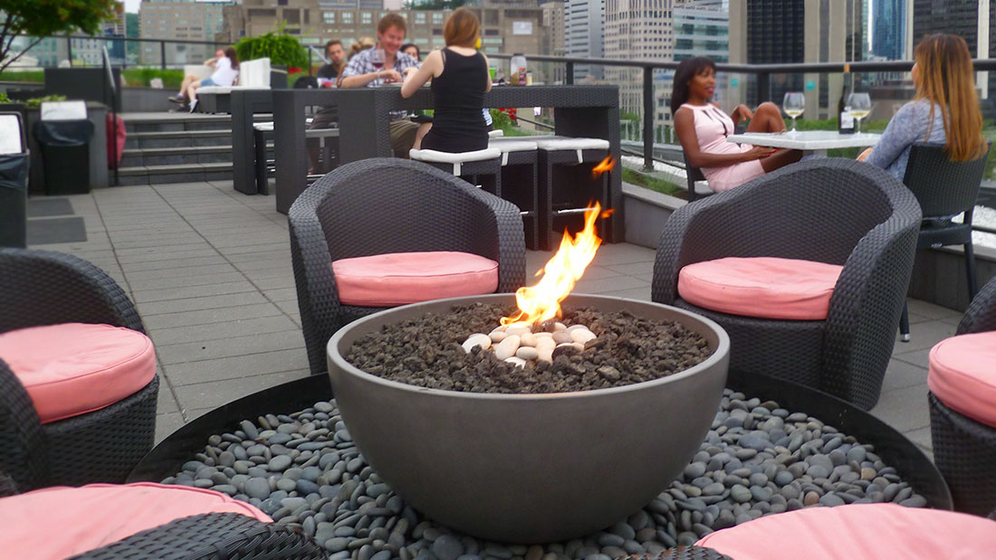 fire pits for commercial and retail spaces