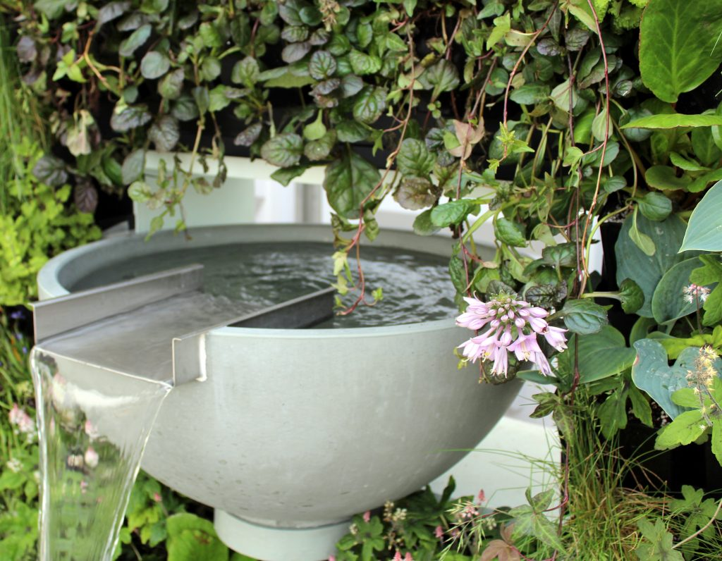 Solus water featuresat Chelsea Flower Show 2017