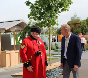 Chelsea pensioner at Chelsea Flower show