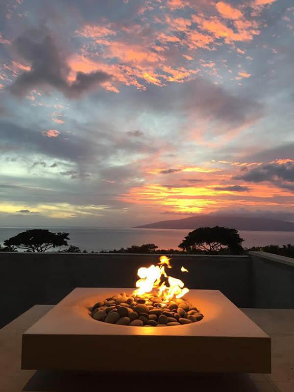 Maui Halo Low fire pit