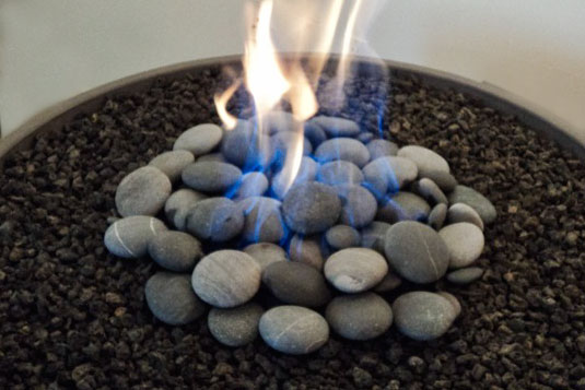 Firepit stone and lava toppings