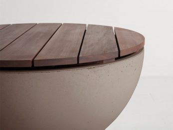 firepit Hemi 26 IPE wood table top available in England