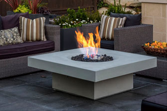 Solus halo elevated 48 firepit