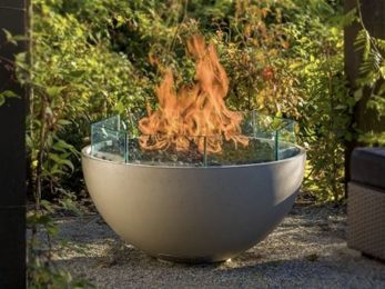 Hemi 36 fire pit glass protective shield