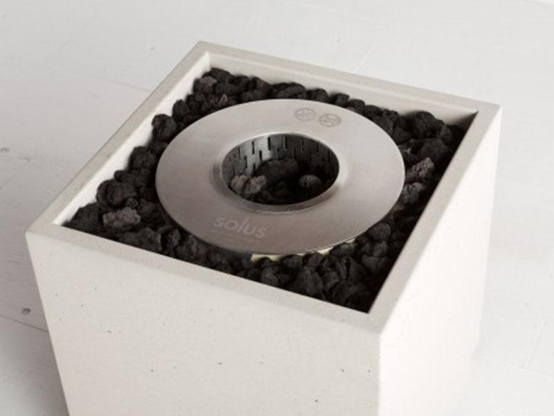 Fire cube firepit ethanol burner