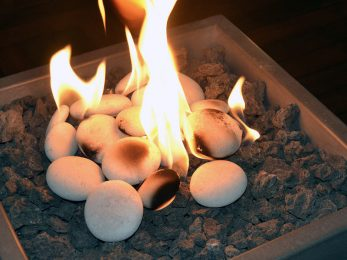 Synthetic stones for the solus fire cube fire pit
