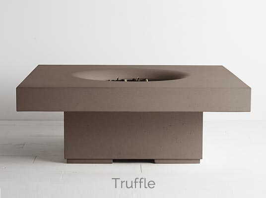 Halo elevated fire pit truffle colour