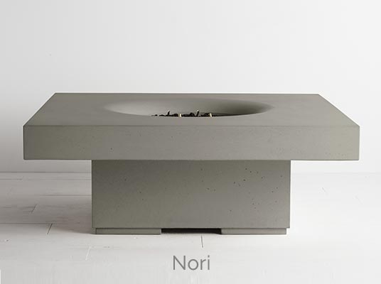 Halo elevated fire pit nori colour