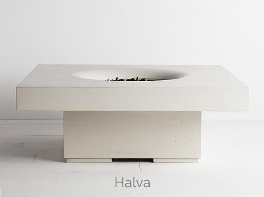 Halo elevated fire pit halva colour
