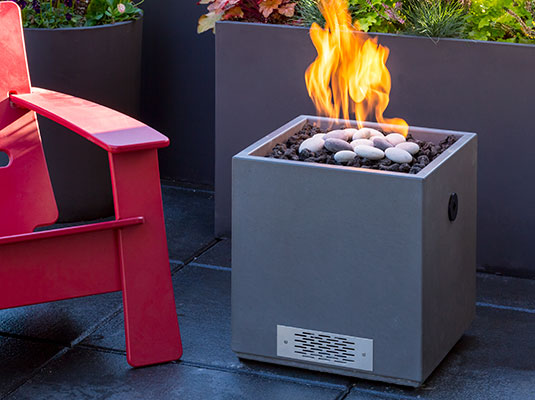 Pire cube firepit