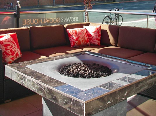 fire pits for cafes and coffee shops