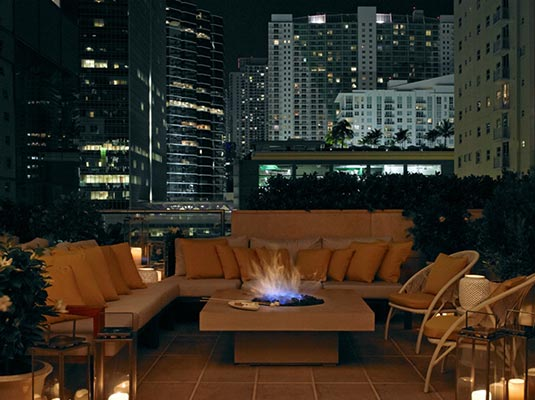 fire pits for hotels and retail spaces