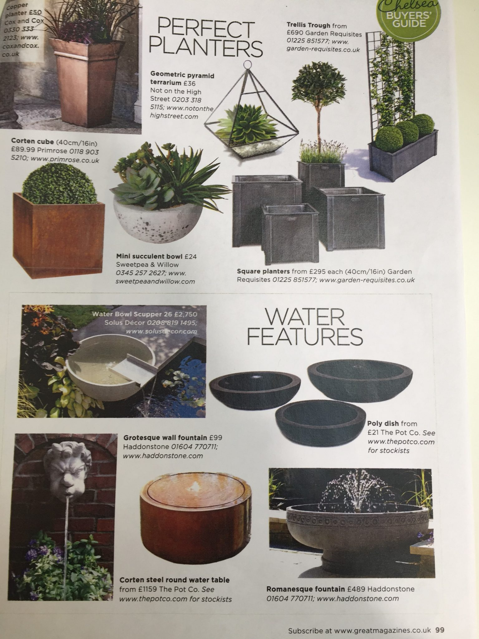 Solus products in Garden Answers, May 2017