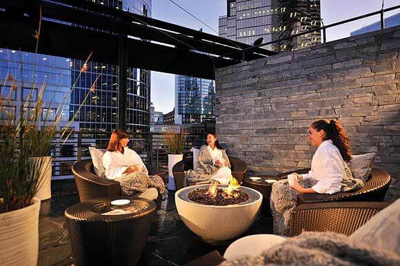 hemi fire pit at Fairmont Pacific Hotel