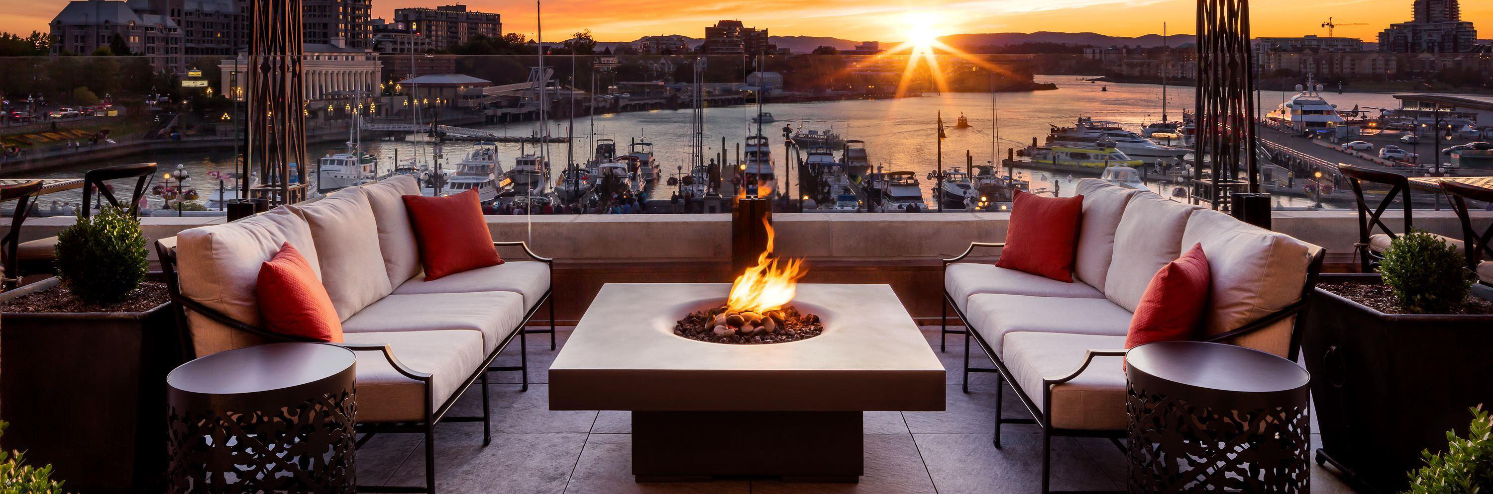 contemporary gas fire pit