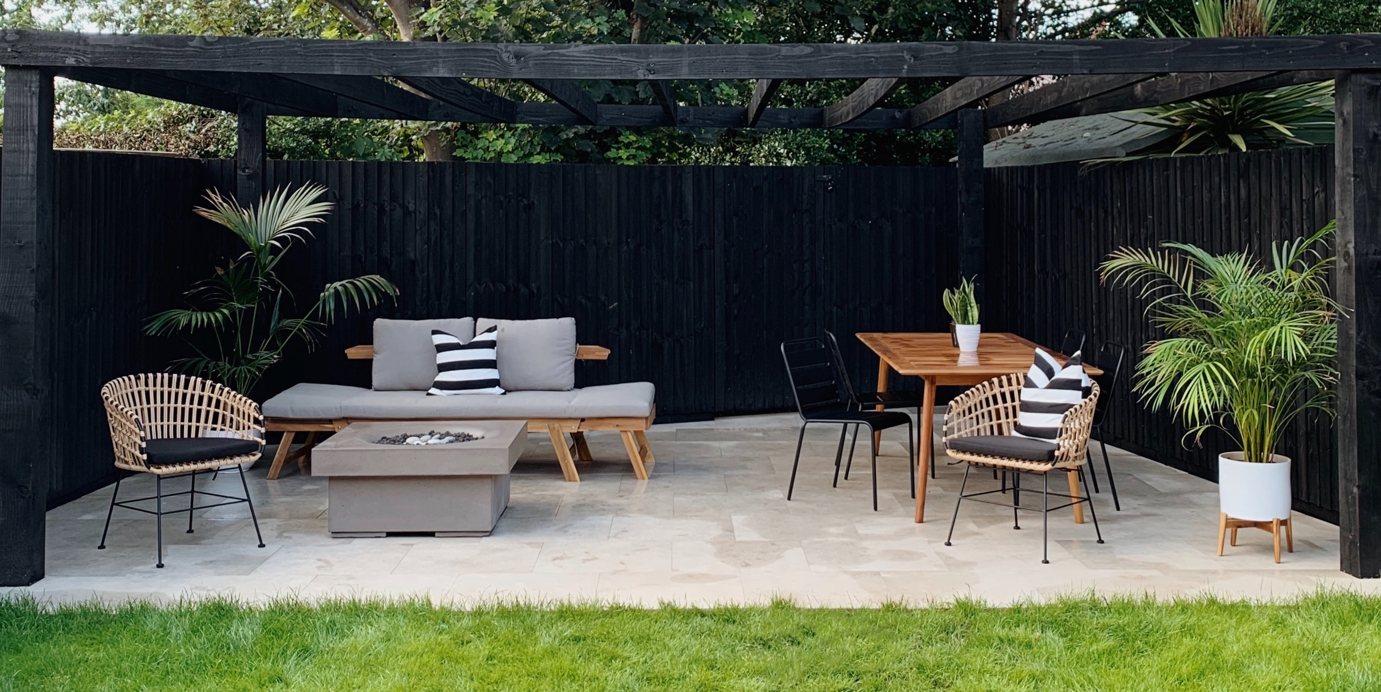 The House That Black Built modern gas fire pit